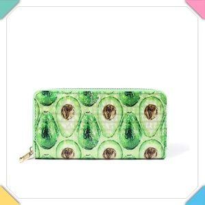 Handbags - Avocado Print Zip Around Wallet